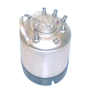 Cleaning container for NC, 9 L, with 6 product valves NC (ball lock) and 1 CO2 valve NC (ball lock)