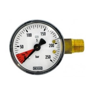 Content manometer for pressure reducer