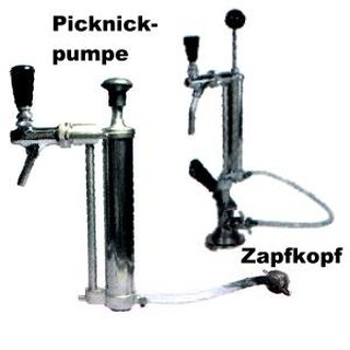 Picnic pump with piston tap 5/8 inch