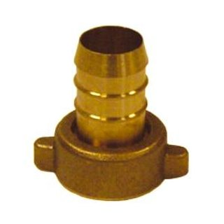 Hose fitting brass straight 3/4 female and 19-20 mm grommet